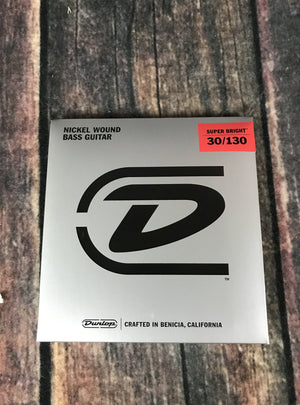 Dunlop Bass Strings Dunlop DBSBN30130 Nickel Wound Super Bright Medium 6 String Bass Strings