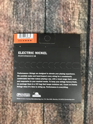 Dunlop Electric Guitar Strings Dunlop Nickel Wound .09 Gauge DEN0946 Light Electric Guitar Strings