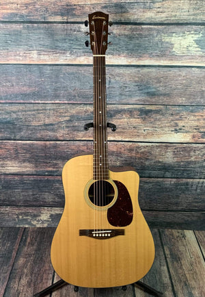 Eastman Acoustic Guitar Used Eastman HE120CE Acoustic Electric Guitar with Eastman Case
