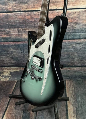 Eastwood Electric Guitar Eastwood Custom Shop Left Handed Backlund 800 Electric Guitar- Olive Green