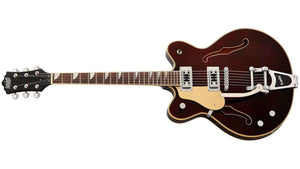 Eastwood Electric Guitar Eastwood Left Handed Classic 6 Deluxe Semi-Hollow Electric Guitar- Walnut