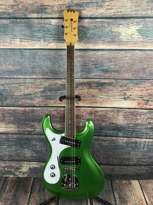 Eastwood Electric Guitar Eastwood Left Handed SideJack Pro DLX Electric Guitar- Candy Green