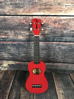 Eddie Finn Ukelele Eddie Finn EF-MN-RD Minnow Ukelele with Bag - Red Gloss
