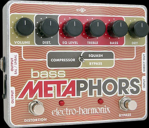 electro-harmonix pedal Electro-Harmonix Bass Metaphors Preamp/EQ/Distortion/Compressor/DI Multi-Effect pedal