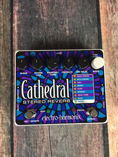 electro-harmonix pedal Electro-Harmonix Cathedral Stereo Reverb Pedal