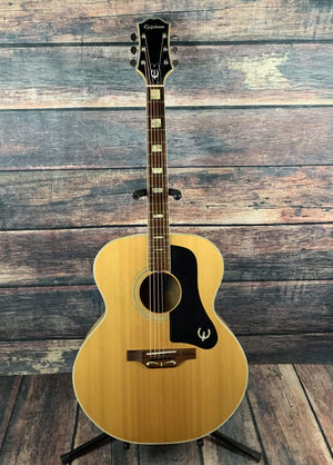 Epiphone Acoustic Guitar Used Epiphone 70's Sheraton FT-570BL Japanese Acoustic Guitar with Gig Bag