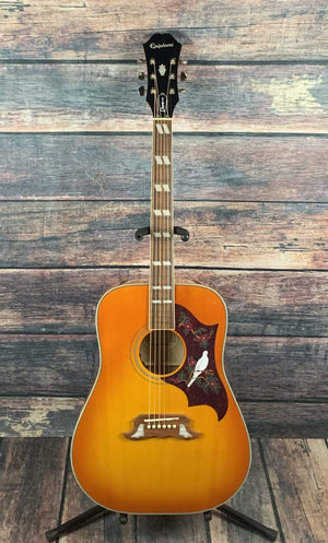 Epiphone Acoustic Guitar Used Epiphone Dove Pro Acoustic Electric Guitar with Gig Bag