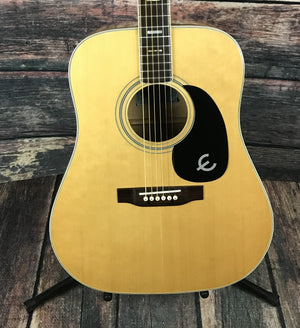 Epiphone Acoustic Guitar Used Epiphone FT-350BL Japanese Acoustic Electric Guitar with Case