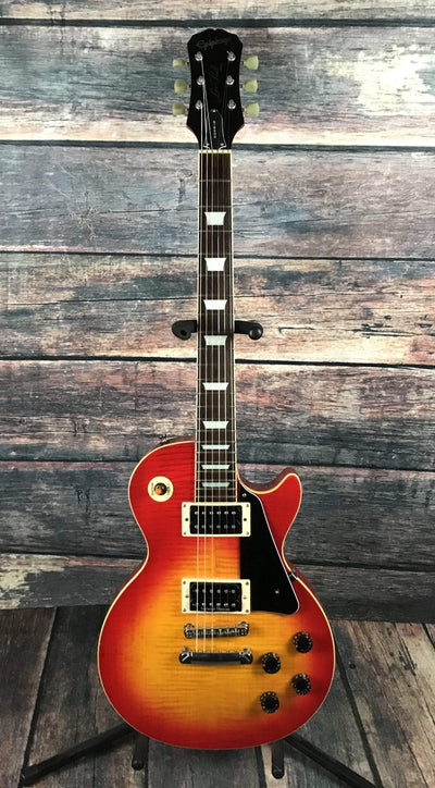 Used Epiphone 1999 Les Paul Flamed Cherry Sunburst Electric Guitar with Gig  Bag