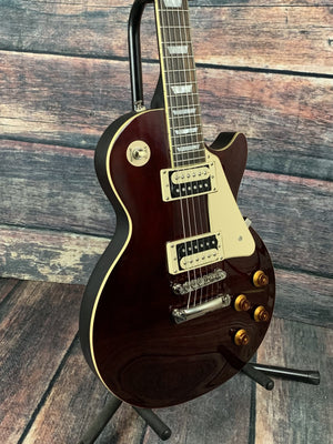 Epiphone Electric Guitar Used Epiphone 2013 Les Paul Traditional Pro II Wine Red with Hard Shell Case