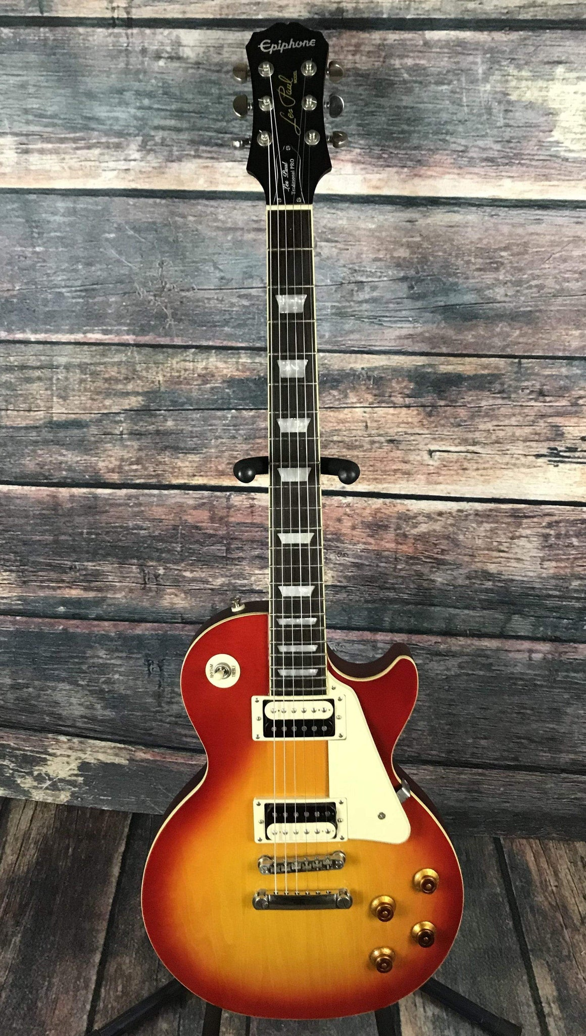 Epiphone Electric Guitar Used Epiphone 2014 Les Paul Traditional Pro Cherry Burst with Gig Bag