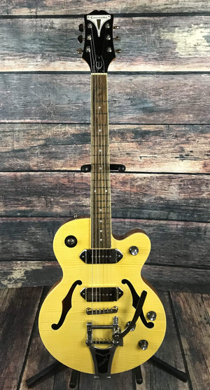 Epiphone Electric Guitar Used Epiphone 2018 Wildkat Semi-Hollow Electric with Bigsby and Gig Bag
