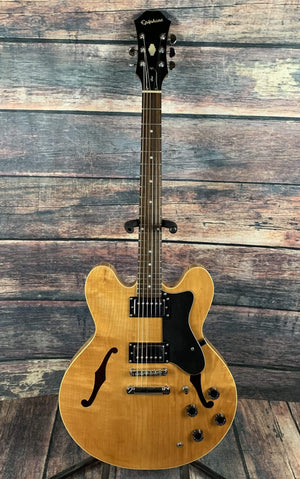 Epiphone Electric Guitar Used Epiphone Dot Semi Hollow Electric Guitar with Epiphone Case- Natural