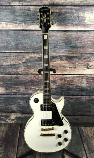 Epiphone Electric Guitar Used Epiphone Les Paul Custom Pro White with Gig Bag