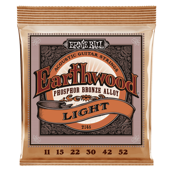 ernie ball Acoustic Guitar Strings Ernie Ball Earthwood Light Phosphor Bronze Acoustic Guitar Strings