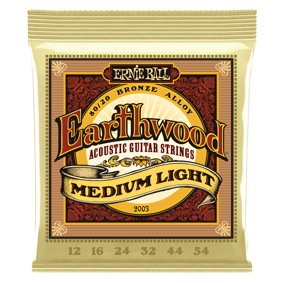 ernie ball Acoustic Guitar Strings Ernie Ball Earthwood Medium Light 80/20 Bronze Acoustic Guitar Strings