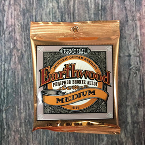 ernie ball Acoustic Guitar Strings Ernie Ball Earthwood Medium Phosphor Bronze Acoustic Guitar Strings