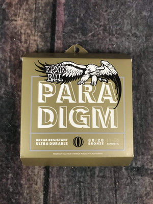 ernie ball Acoustic Guitar Strings Ernie Ball Paradigm Light 80/20 Bronze Acoustic Guitar Strings 11-52