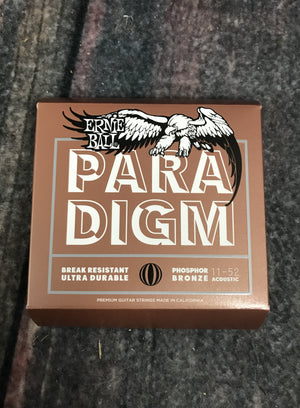 ernie ball Acoustic Guitar Strings Ernie Ball Paradigm Light Phosphor Bronze Acoustic Guitar Strings 11-52