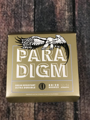 ernie ball Acoustic Guitar Strings Ernie Ball Paradigm Medium Light 80/20 Bronze Acoustic Guitar Strings 12-54