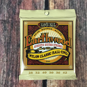 ernie ball Strings Ernie Ball Earthwood Folk Nylon, Clear & Gold Ball End, 80/20 Bronze Acoustic Guitar Strings