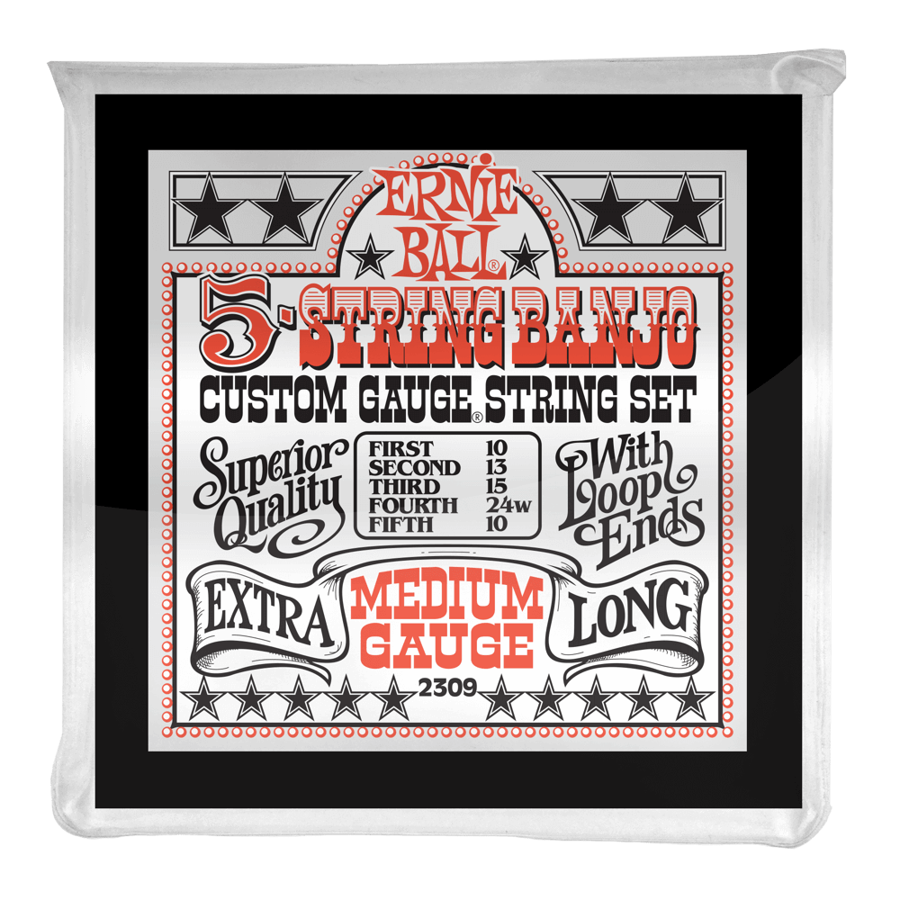 ernie ball Strings Ernie Ball Medium 5 String Loop End Banjo Strings