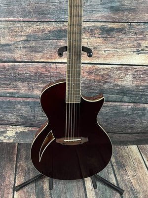 ESP/LTD Acoustic Guitar ESP/LTD TL-6 Acoustic Electric Thin Body Guitar- Wine Red - Blem