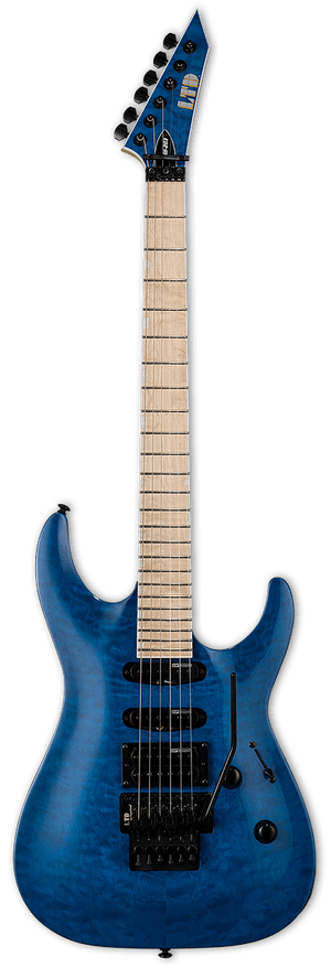ESP/LTD Electric Guitar ESP/LTD MH203QM HSS Electric Guitar- See Thru Blue