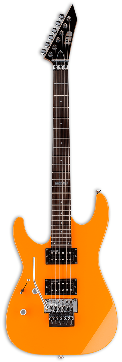 ESP/LTD Electric Guitar Guitar Only ESP/LTD Left Handed M-50FR Electric Guitar- Neon Orange