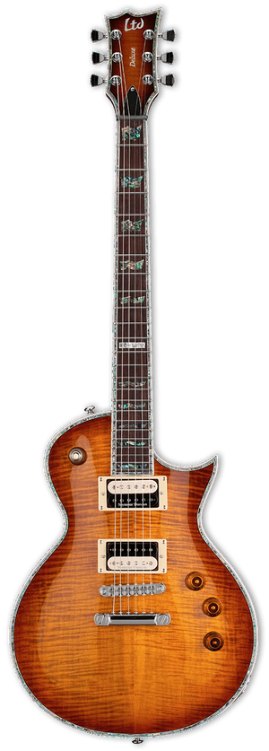 ESP/LTD Electric Guitar Guitar Only ESP/LTD Right Handed EC-1000 Electric Guitar Amber Sunburst