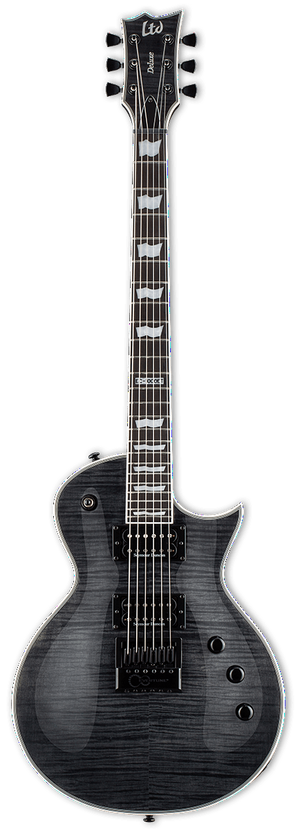 ESP/LTD Electric Guitar Guitar Only ESP/LTD Right Handed EC-1000 Evertune Electric Guitar- See Thru Black