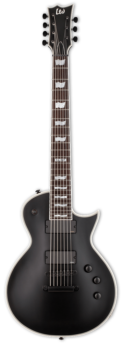 esp ltd right handed ec 407 electric guitar black satin. Black Bedroom Furniture Sets. Home Design Ideas