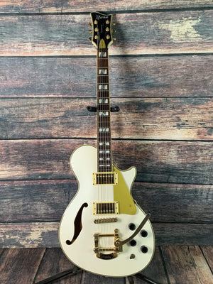 ESP/LTD Electric Guitar Used ESP LTD MIK X-Tone PC-1V Semi-Hollow Electric Guitar with Bigsby- Pearl White