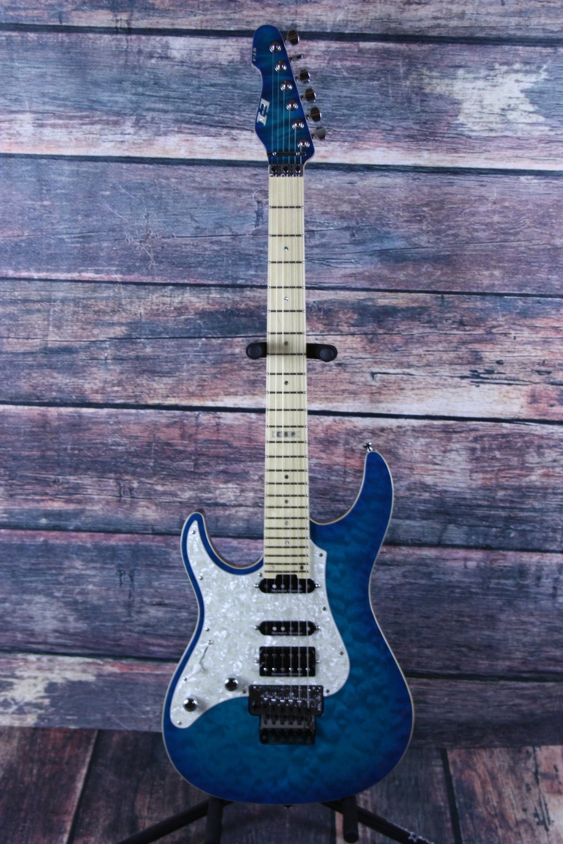 ESP/LTD Electric Guitar With ESP Hard Shell Case ESP Left Handed E-II ST-1 Maple AQM Electric Guitar