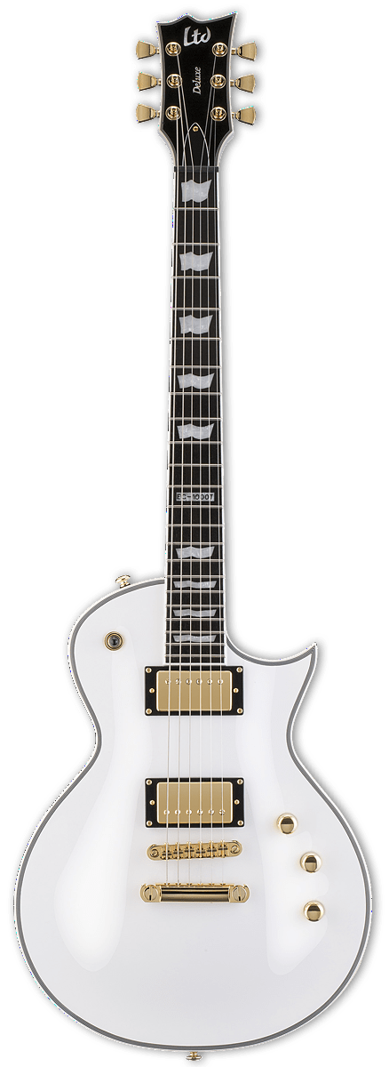 ESP/LTD Electric Guitar With Hard Shell Case ESP/LTD  Right Handed EC-1000T/CTM DIMARZIO Electric Guitar - Snow White