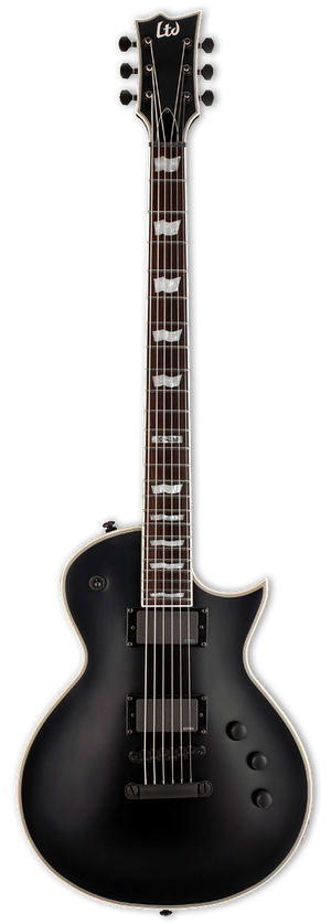 ESP/LTD Electric Guitar With Hard Shell Case ESP/LTD Right Handed EC-401B Electric Guitar Black Satin