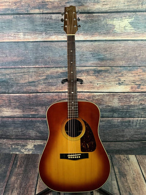 Fender Acoustic Guitar Used Fender F-220 SB Sunburst Acoustic Guitar with Gig Bag