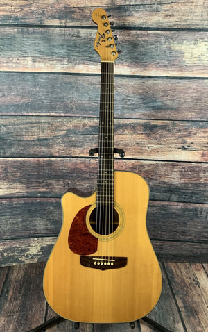 Fender Acoustic Guitar Used Fender Left Handed San Miguel Acoustic Electric Guitar with Hard Shell Case
