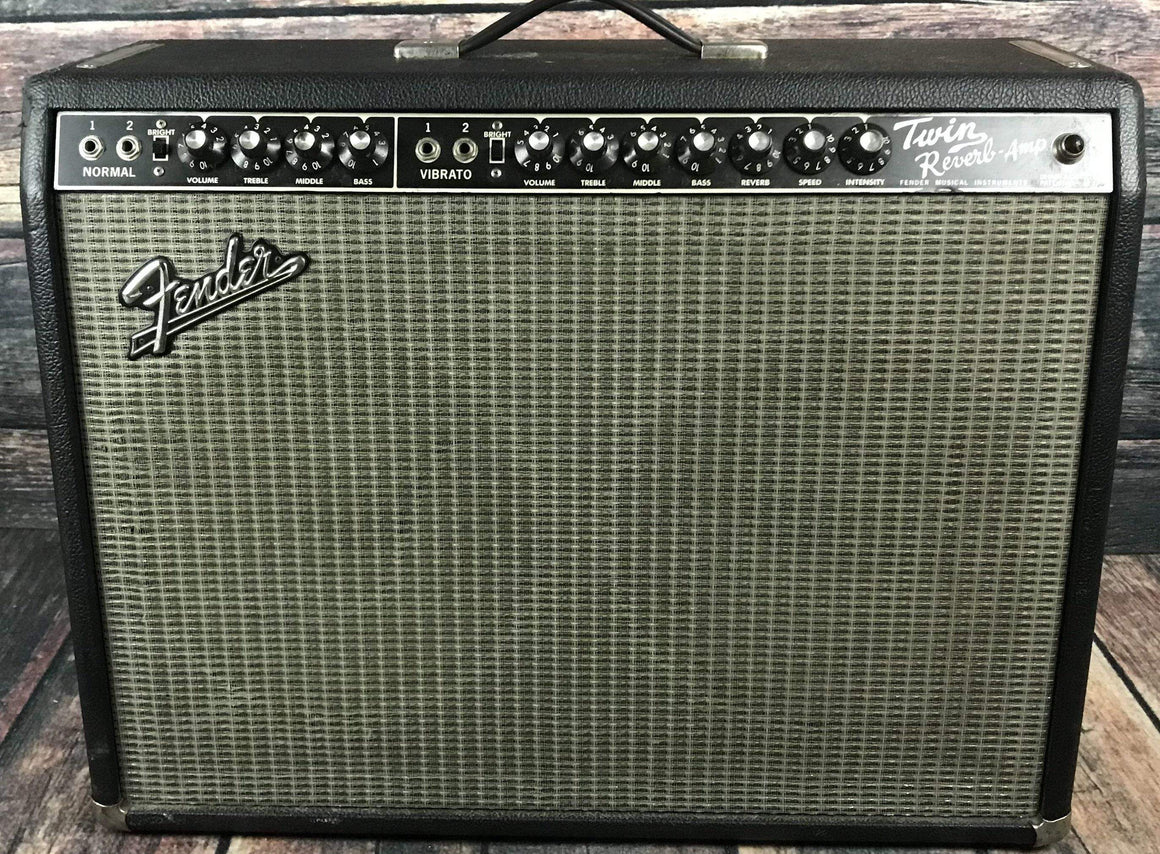 Fender Amp Used Fender 90's 65 Reissue Black Face Twin Reverb Tube Combo Amp