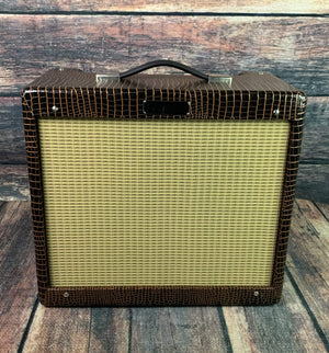 Fender amp Used Fender Limited Edition Blues Junior IV Alligator Brown Alligator Skin with Foot Switch