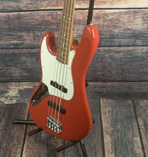 Fender Electric Bass Fender 2019 Left Handed Player Jazz MIM 4 String Electric Bass with Gig Bag- Red