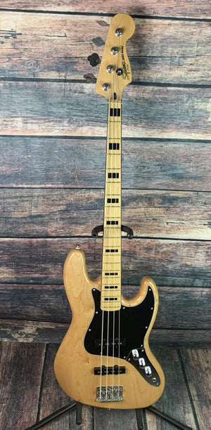 Fender Electric Bass Used Squier Vintage Modified Jazz Bass with Gig Bag- Natural