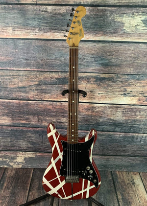 Fender Electric Guitar Used Fender 1979-1981 Lead II USA made Electric Guitar with Fender Case- Red with Stripes