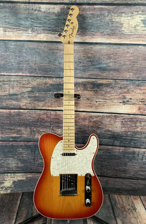 Fender electric guitar Used Fender 2007 American Deluxe Telecaster S1 with Fender Case- Aged Cherry Suburst