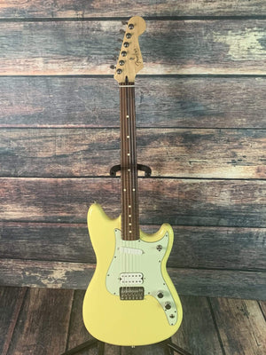 Fender Electric Guitar Used Fender 2017 Special Edition Duo Sonic Electric Guitar with Gig Bag- Canary Diamond