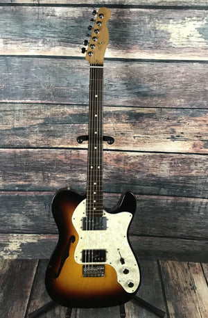 Fender Electric Guitar Used Fender 72 Reissue Thinline Telecaster with Warmoth Neck and gig bag