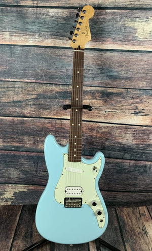 Fender Electric Guitar Used Fender Duo Sonic HS Electric Guitar - Daphne Blue