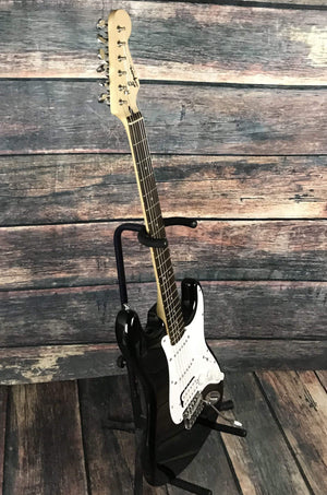 Fender Electric Guitar Used Squier by Fender Bullet Stratocaster with Gig Bag- Black
