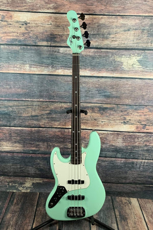 G&L Guitars Electric Bass G&L Left Handed JB-4 4 String Electric Bass- Surf Green