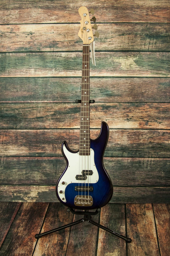 G&L Guitars Electric Bass G&L Left Handed SB2 P/J Electric Bass Blueburst/White